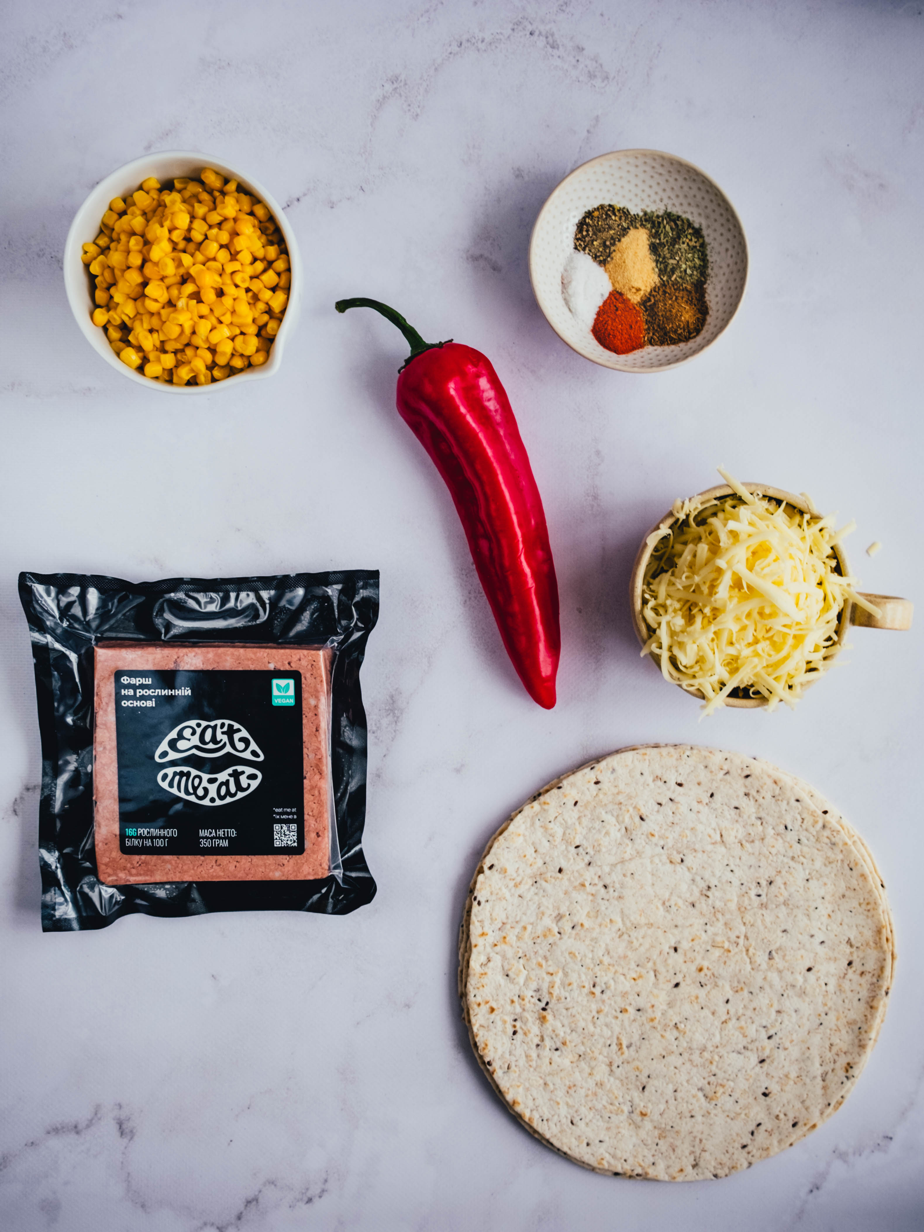 Mexican quesadilla with Eat Me At